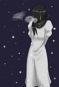 貞子落書き 冬ver