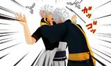 銀さんとクローンの喧嘩。