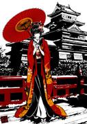 登久姫と松本城