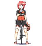 栄子!自転車に乗るときは…