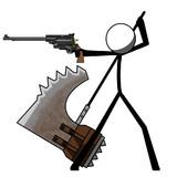拳銃と処刑斧
