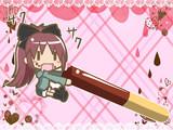 喜々としてポッキーを貪る杏子