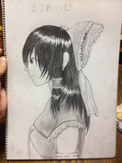 鉛筆描き 横霊夢