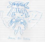 霞み妖精ジャスミンをその辺のボールペンで描いてみた