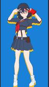 【MMD】 キオ式 纏流子 さらにアニメちっくにしてみた