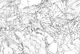 激突!暗黒の軍団vs王国騎士団!!(線画)