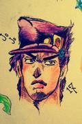 空条承太郎を描いてみた。