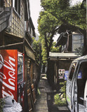 自動販売機のある路地 台東区谷中