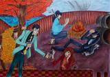 【ルパン三世イラスト】 紅葉で一息