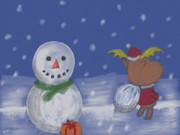 【絵心教室】とある村のクリスマスイヴ