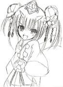 チェンクロのツル姫描いて見た