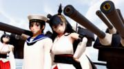 【MMD】鎮守府便り ~水兵さんと扶桑さん、それと山城さん