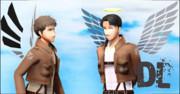 【進撃のMMD】進撃の巨人_翼 【配布】