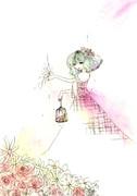 鳥籠に囚われる花。