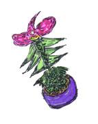魔界の植物の鉢植え