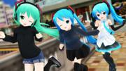 3姉妹、走る!