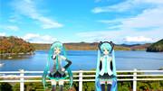 大きな池の記念撮影