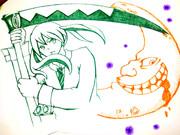 アナログ画でマカ・アルバーン描いたった♪