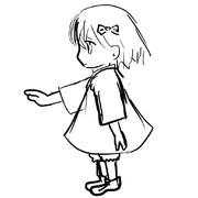 横向いてる幼女