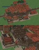 【minecraft】ミニチュアの街