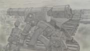 【シャーペンGIF】進撃の巨人OP・大砲後半①
