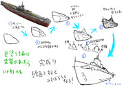 簡単な潜水艦の描き方