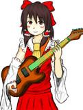 霊夢にギターを持たせてみたw