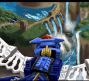 滝のある砦