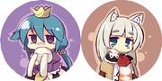 欝姫とイクラクン缶バッチ