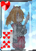 【方舟企画Ⅳ】艦これトランプ風絵(❤/10)