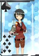 【方舟企画Ⅳ】艦これトランプ風絵(♠/8)
