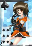 【方舟企画Ⅳ】艦これトランプ風絵(♠/6)