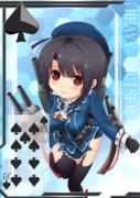【方舟企画Ⅳ】艦これトランプ風絵(♠9) 高雄