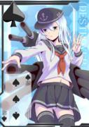 【方舟企画Ⅳ】艦これトランプ風 ♠3