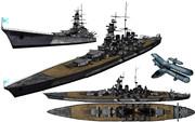 MMD用モブ超弩級戦艦セット