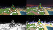 【Minecraft】小さいクリスマスツリー【サバイバルで作ったよ】