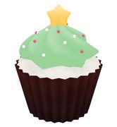 クリスマス用のカップケーキ