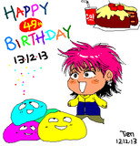 HAPPY BIRTHDAY to hide chan