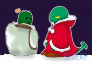 クリスマス~トンベリサンタとサボテンダー