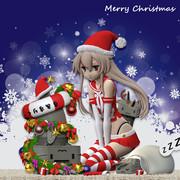 艦これ 島風ちゃん(提督の夏休み。ver)フィギュアデジタル原型をクリスマス仕様に修正したよ