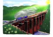 【小6が描いた】リクエスト!!クロンク橋線画を塗らせていただきました(*´▽`*)