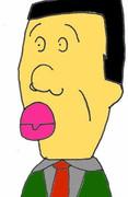 口紅を塗ったアナゴさん