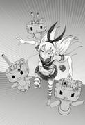 艦これ☆ぜかましさん02 モノクロ