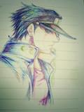 ボールペンで描いた承太郎