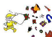 「Yellow Santa Claus」