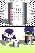 【MMDアクセサリ】卓上万年カレンダー【配布】