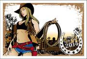 年賀状2014「COWGIRL」