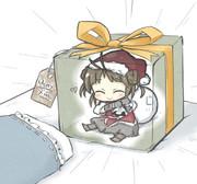 クリスマスの朝の枕元には