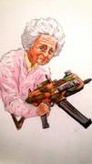 おばあちゃんと機関銃