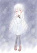 冬のアルビノ少女